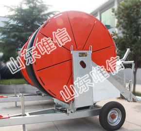Hose Reel Irrigation With Rain Gun For Agricultural