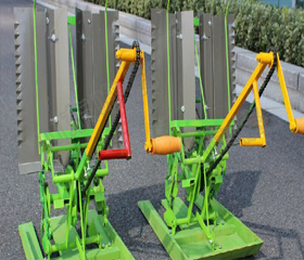 Two Row Hand Cranked Manual Rice Transplanter